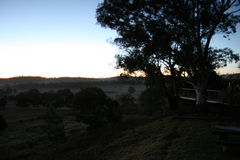 Breaking Dawn. Dawn breaking out past Mudgee in New South Wales Royalty Free Stock Photography
