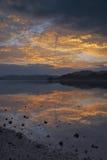 Breaking dawn. Sea of Nago, Okinawa Prefecture sunrise Stock Image