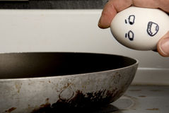 Breaking an Egg Stock Photo
