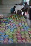 Breaking fast with porridge in the mosque Pekojan Semarang Stock Photography