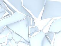 Breaking glass. 3d illustration of glass breaking, over white background vector illustration
