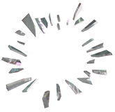 Breaking Glass Explosion Big Shards Announcement Blank Copy Spac Royalty Free Stock Photography