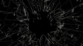 Breaking glass in full HD stock footage