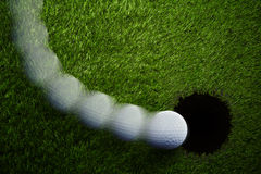 Breaking Golf Putt Stock Photography
