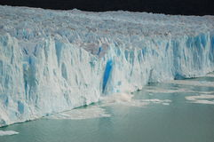 Breaking the Ice. Ice blocks falling off Perito Moreno Glacier in Calafate, Patagonia Stock Image