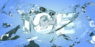 Breaking the ice. Abstract backround Stock Image