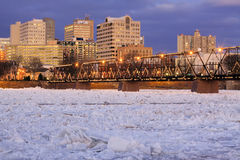 Breaking Ice at Harrisburg Royalty Free Stock Photo