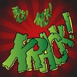 Breaking Krack Effect Royalty Free Stock Image