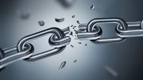 Breaking metal chain Stock Images
