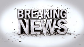 Breaking News. Image of the message Breaking News in 3D text with rubble Royalty Free Stock Image