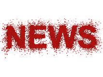 Breaking news. Red breaking news, over white background Stock Images