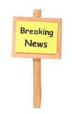 Breaking News Stock Photography