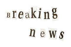 Breaking news Royalty Free Stock Photography