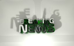 Breaking news Stock Photo