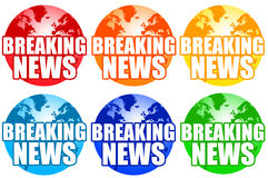 Breaking news. On a global scale Stock Image