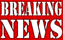 Breaking news. Graphic background in red and white vector illustration