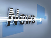 Breaking News 3d metal logo Royalty Free Stock Photography