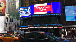 Breaking News, ABC 7, Eyewitness News, Times Square Studios, NYC, New York, USA stock image