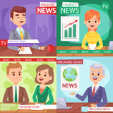 Breaking news anchor. Royalty Free Stock Photo