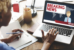 Breaking News Article Broadcast Headline Journal Concept Royalty Free Stock Image
