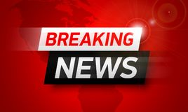 Free Breaking News Background Stock Photography - 101370702