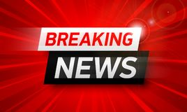 Breaking news background. World Global TV news banner design Stock Image