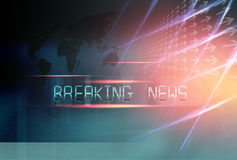 Breaking News background Concept Series 455. Graphical Breaking News Background with directions and world map Stock Image