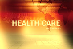 Breaking News background Concept Series 62. Graphical Health Care Breaking News Background with news text, Golden Theme Background Stock Images