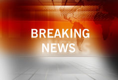 Breaking News background Concept Series 61. Graphical Breaking News Background with News Text Stock Image
