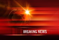 Breaking News background Concept Series. Graphical Breaking News Background with news text, Red Theme Background with White Breaking News text Stock Photos