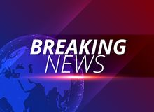 Breaking news background with earth planet. Illustration stock illustration