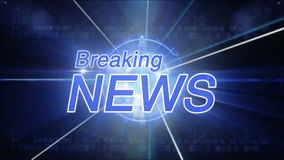 Breaking News background generic stock video