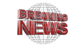 Breaking News - Background. Breaking News Lettering in front abstract world map - Background Stock Image