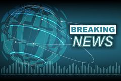 Breaking news background with planet Stock Photography