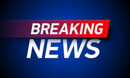 Breaking news background. World Global TV news banner design Royalty Free Stock Photo