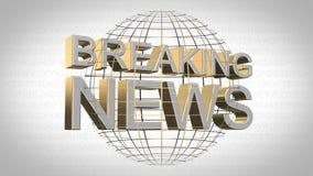 Breaking news - bakgrund Fotografering för Bildbyråer