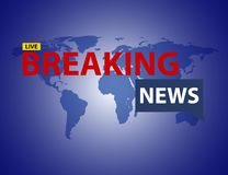 Breaking news background. Breaking news banner background. news concept Royalty Free Stock Photos