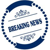 BREAKING NEWS blue seal. Royalty Free Stock Photo