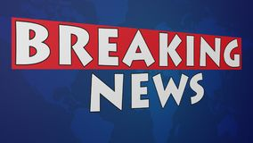 Breaking News 002 - Blue World Background. High Resolution - Colorful Background royalty free illustration