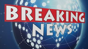 Breaking News 004 - Blue World Background. High Resolution - Colorful Background vector illustration