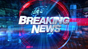 Breaking News - Broadcast Animation Graphic Title 4K. Breaking News graphic main title, videos and images in the background. See other versions in this series to stock footage