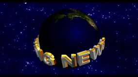 Breaking News - Broadcast Graphics Title stock video