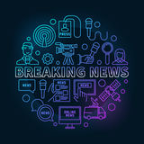 Breaking news colorful ine illustration Royalty Free Stock Photography