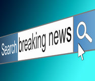 Breaking news concept. Royalty Free Stock Photography