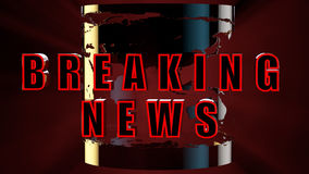 Breaking news. Concept of breaking news 3d rendering with clipping path Royalty Free Stock Photo