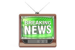 Breaking News concept, 3D rendering. On white background Royalty Free Stock Photo