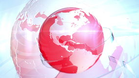 Breaking news earth globe opening Intro with title in the red stock footage