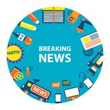 Breaking news emblem Royalty Free Stock Image