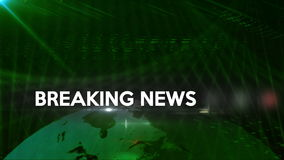 Breaking News generic background Green 4K stock video