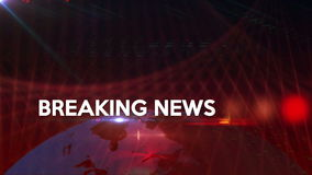 Breaking News generic background Red 4K stock video footage